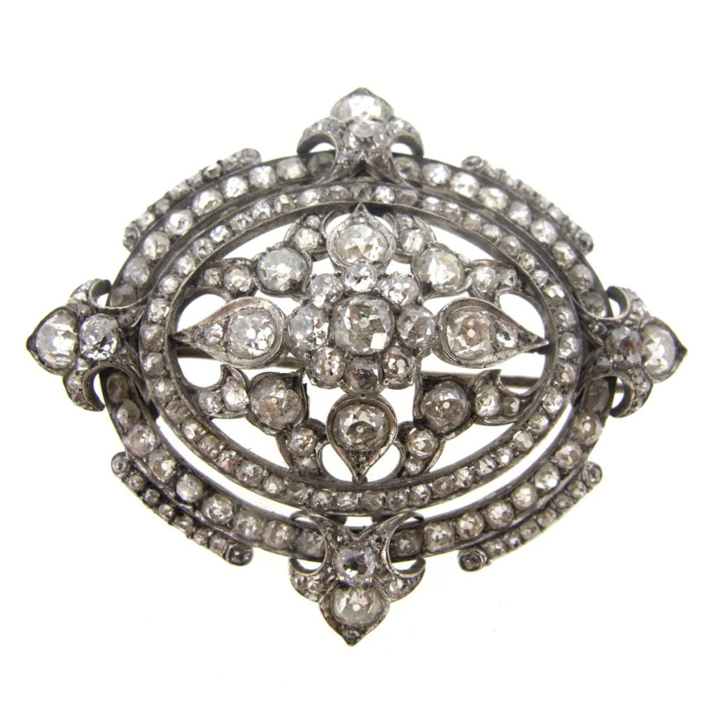 Antique Brooch with Diamonds