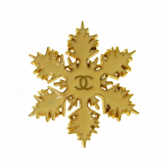 Authentic Chanel Brooch Snowflake Chanel Vintage