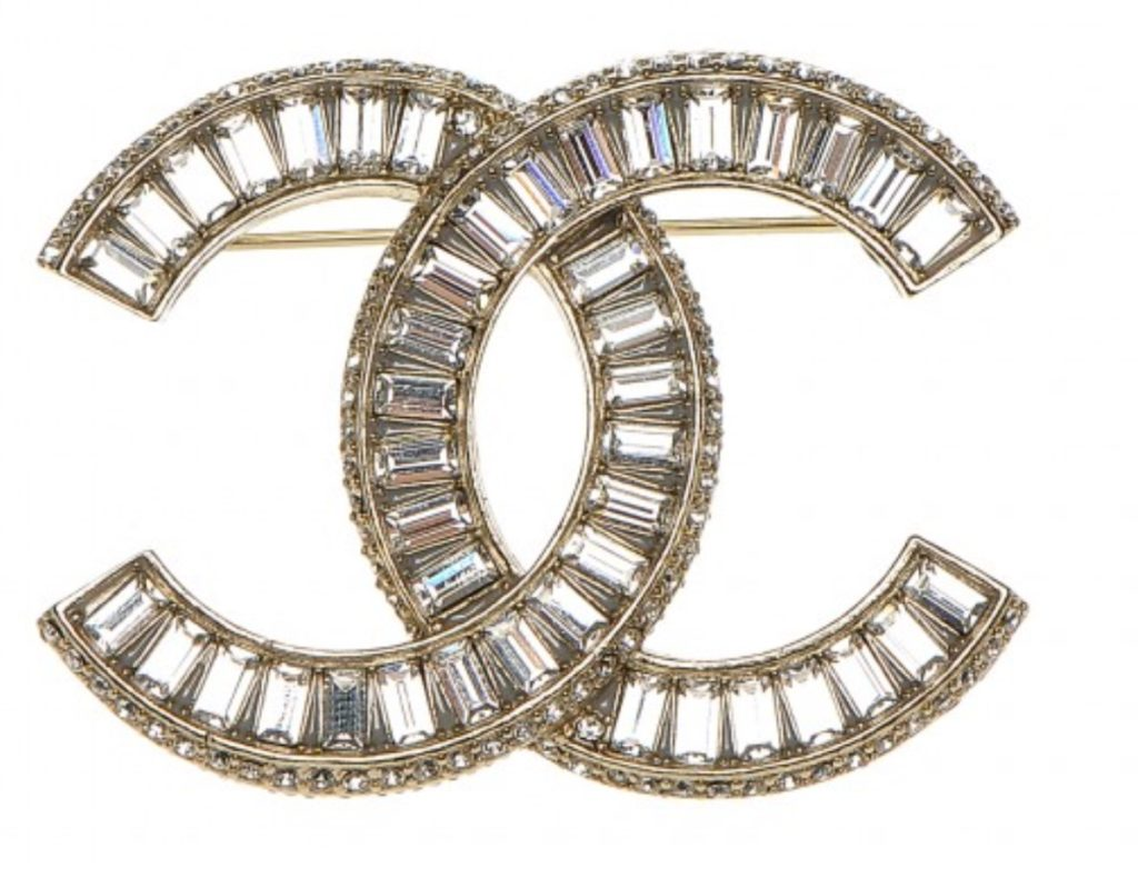 Authentic Chanel X Large Baguette Crystal Brooch