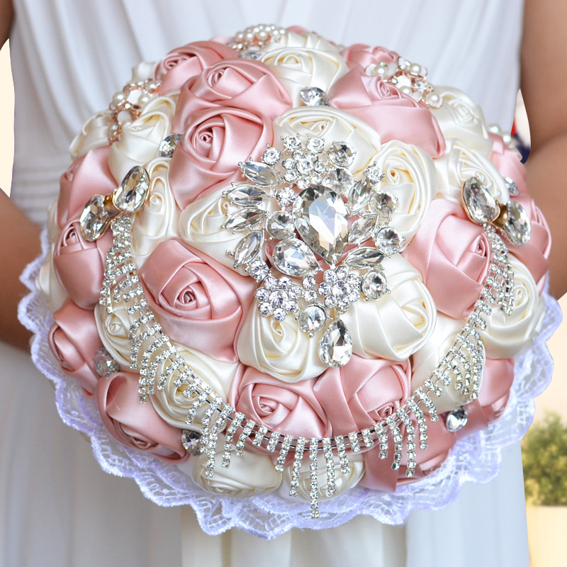 Chic Brooch Wedding Bouquets