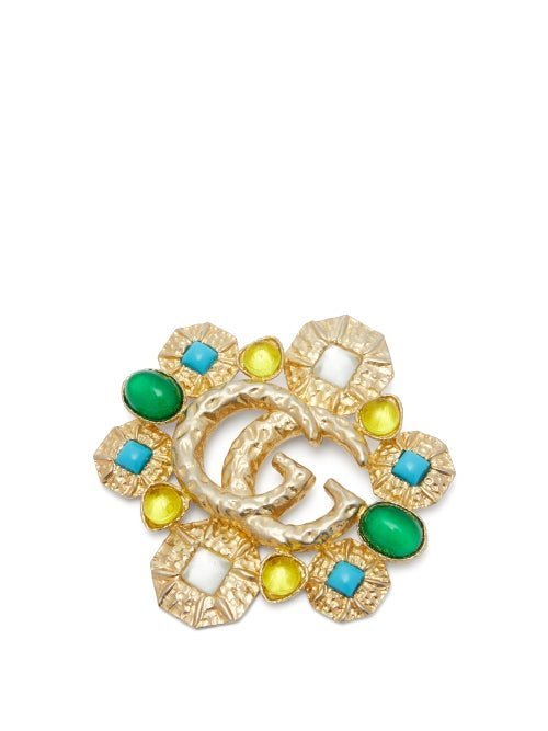 Gucci - Gg Marmont Embellished Brooch