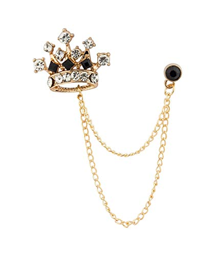 Knighthood Men's Crown Chain Brooch