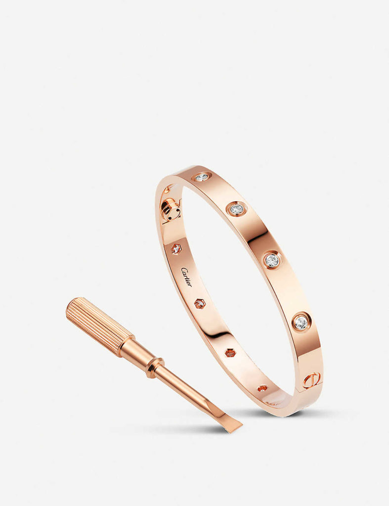 Love 18ct pink- gold and diamond-bracelet
