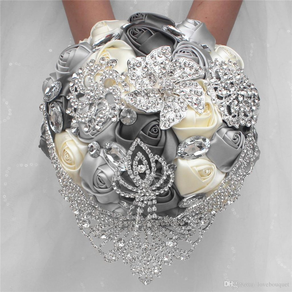 Luxury Crystal Brooch Wedding Bouquet