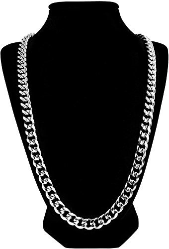 Luxury Silver Cuban Link Chain Stainless Steel Necklace for Men