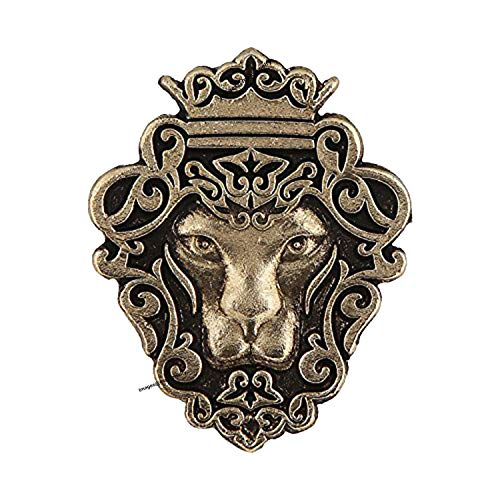 Mahi Gold Plated Lion Shape Tie Tack Lapel Pin Brooch for Men