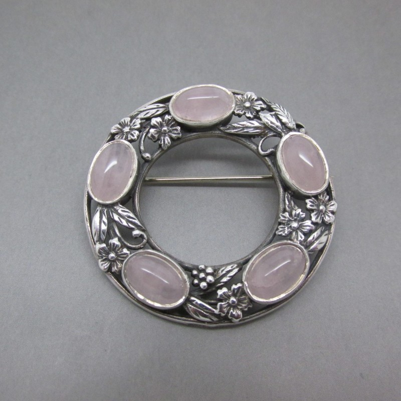 ROLL-OVER Sterling Silver Brooch