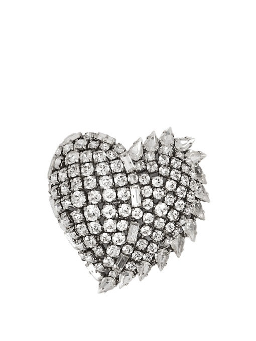 Saint Laurent Brooch decorated with crystals