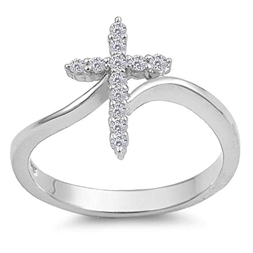 Silver Line's Silver Cross Ring Sterling Silver 925 Christian Jewelry