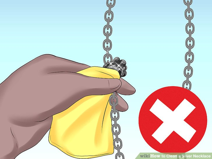 But we usually don't recommend this method for silver chains with gemstones except you can do your best to avoid touching the stone.