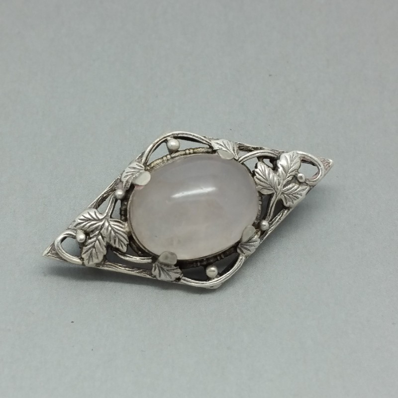 Sterling Silver Brooch in Arts and Crafts Style