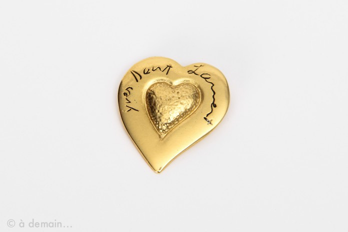 Yves Saint Laurent brooch in the shape of a heart,