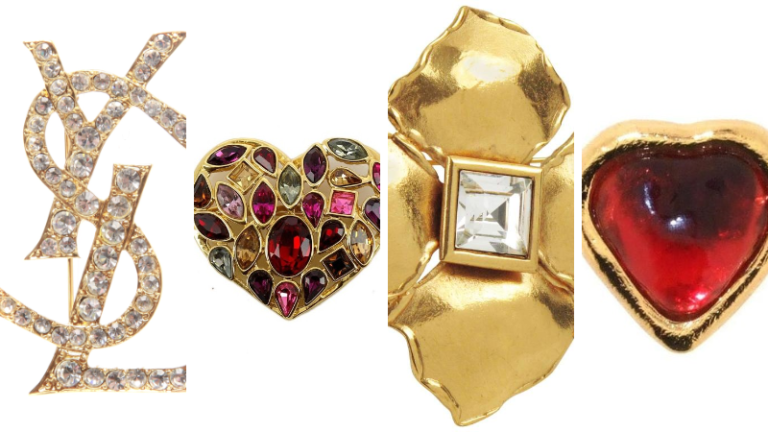 Discover 5 classic Brooches by yves saint laurent