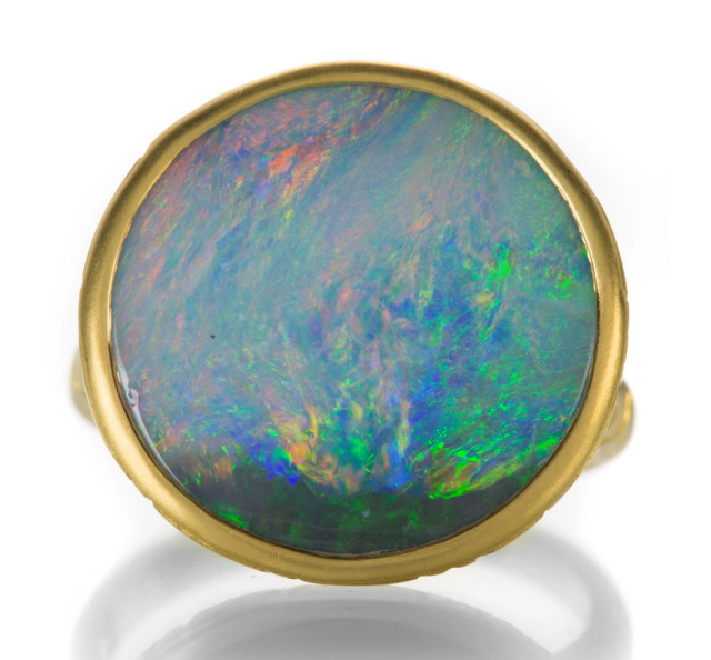 Lilly Fitzgerald 22k Gold Opal Ring