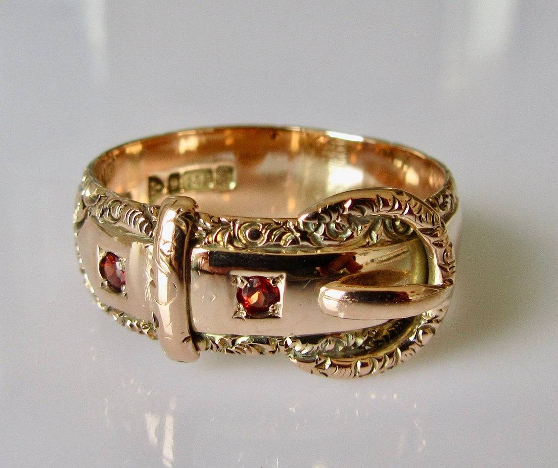 9k Rose Gold Buckle Ring