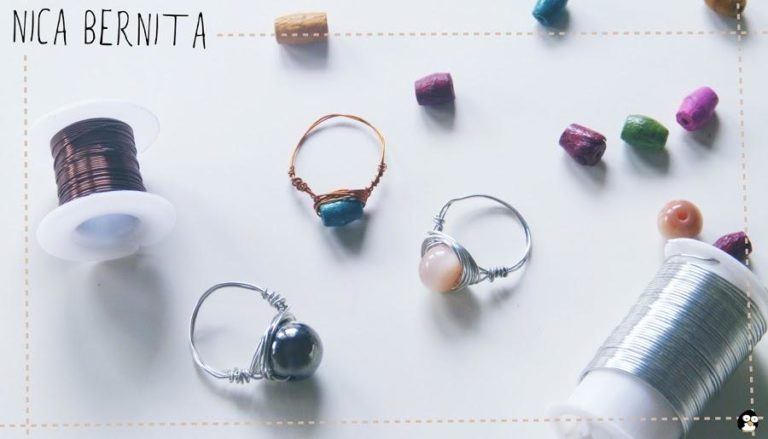 Wire rings and colored beads.  I will explain how they are made.