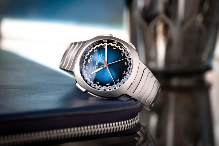 H. Moser & Cie.  presents the Streamliner Flyback Chronograph Automatic Funky Blue