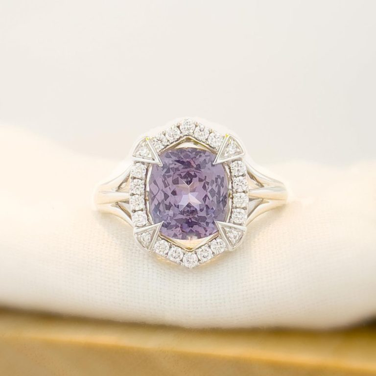 Zoma Color is more than Jewelry; it's a lifestyle. — Lilac spinel in 18K white gold. We love designing…