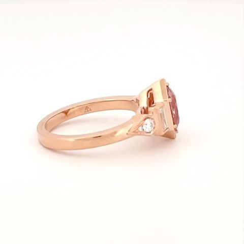 We're trembling at how nice this peach spinel ring turned out….